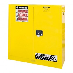 Justrite FM Approved Flammables Safety Cabinet Self Closing 1118mm H 8930201