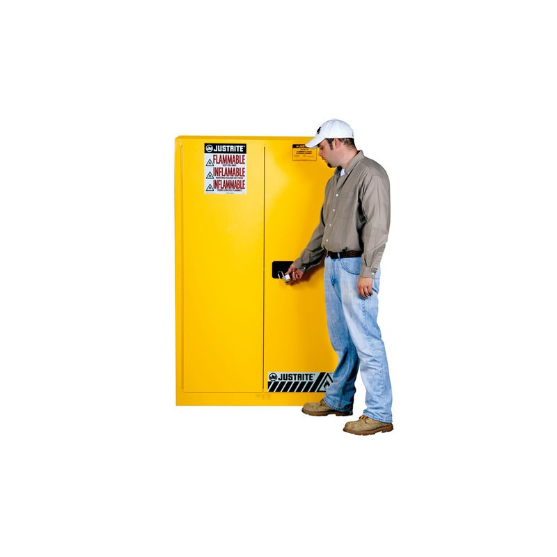 Justrite FM Approved Flammable Liquids Cabinet Self ...