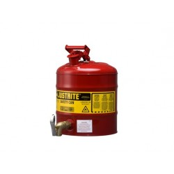 Justrite Laboratory Safety Can 19 litre with rigid faucet  08902  -7150150Z