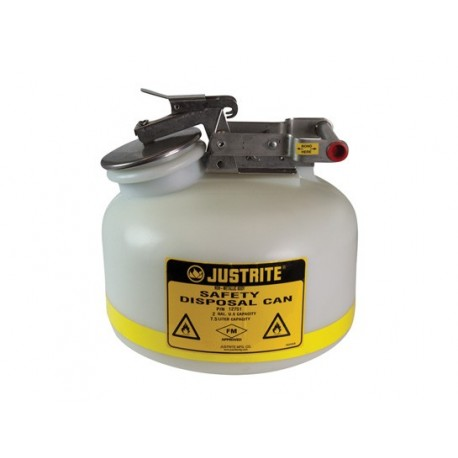 Justrite Liquid Disposal Safety Can 7.5 Litre  (WHITE) 12751