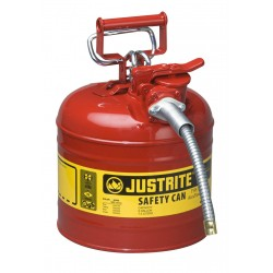 Flammable Liquid Safety Can - Justrite Type 2 - 7.5  litre-7220120Z
