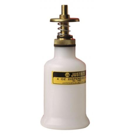 0.12 litre dispensing bottle for dispensing flammable liquids- 14002