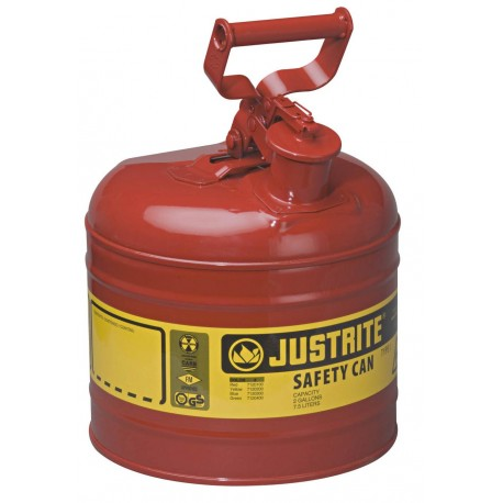 Flammable Liquid Safety Can - Justrite Type 1 - 7.5 litre -7120100Z
