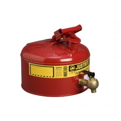 Justrite Laboratory Safety Can 9.5 litre with control tap  -7225140