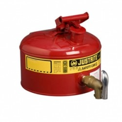 Justrite Laboratory Safety Can 9.5 litre with rigid tap 08902  -7225150Z
