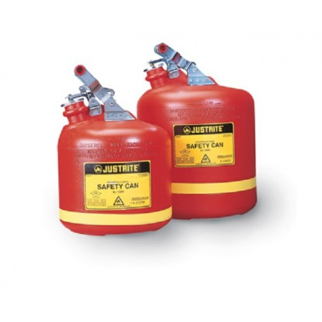 Justrite Type 1 9.5L Round Poly Can for flammables -14261