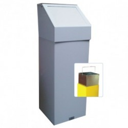 Fire Retardant Push Flap Bin with Liner  555PFL
