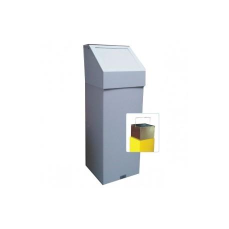 Fire Retardant Push Flap Bin with Liner  555PFL