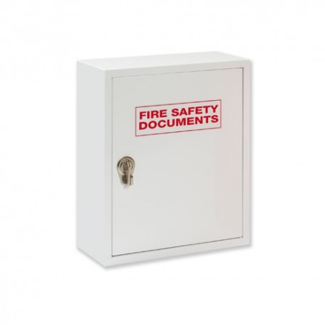 White Metal Fire Safety Document Cabinet with Hasp lock