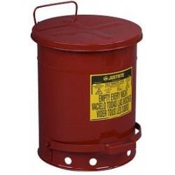 Solvent or Flammable waste container foot operated bin - 34Litre Justrite 09300