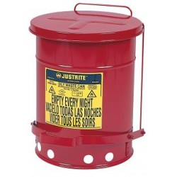 Solvent or Flammable waste container foot operated bin - 20 Litre Justrite 09100
