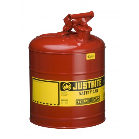 Flammable Liquid Safety Can - Justrite Type 1 - 19litre -7150100Z