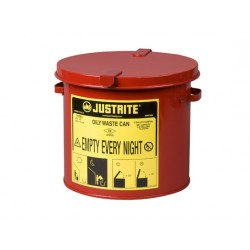 Solvent or Flammable Waste Container Bench Top bin - 8Litre Justrite 09200