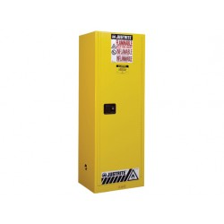 Justrite FM Approved Flammable Liquids Cabinet Manual Closing 1651x591mm 8922001