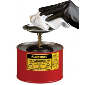 2 Litre Plunger Can for dispensing flammable liquids - Justrite 10208