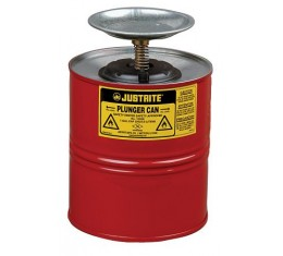 4 Litre Plunger Can for dispensing flammable liquids -Justrite 10308