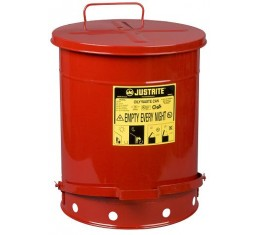 Solvent or Flammable waste container foot operated bin - 52 Litre Justrite 09500