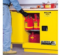 Justrite FM Approved Flammable Liquids Cabinet Manual Closing  889mm H - 8923001