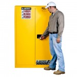 Justrite FM Approved Flammable Liquids Cabinet Manual Closing 1651mm H 8945001