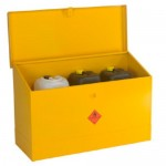 Flammable Liquids Storage Bin - Large with Sloping Lid