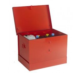 Flammable Liquids Storage Bin - Medium with Flat Lid - Red