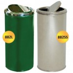 Fire Retardant Stainless Steel Swivel Top Bin with Liner