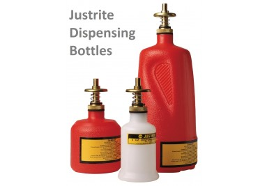 Justrite Dispensing Bottles