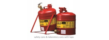 Justrite Laboratory Cans